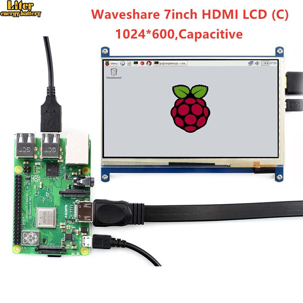 7'' Display , 7inch HDMI LCD (C) ,Capacitive Touch Screen,HDMI monitor,Supports Raspberry Pi Model 2B/3B/3B+ BB Black