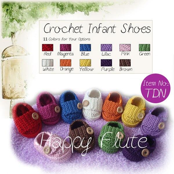 HappyFlute-chaussures pour bébé   Chaussures en crochet, chaussures fabriquées à la main, TDN