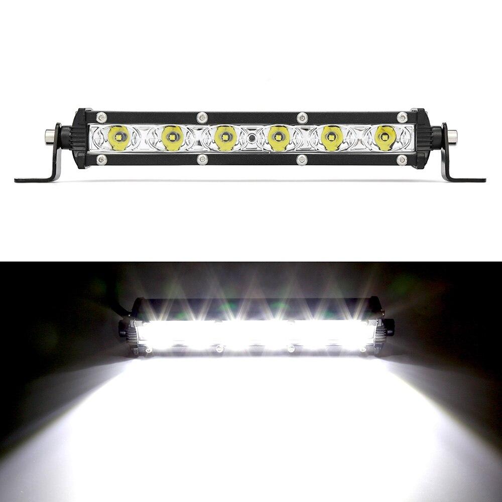 Luz de trabajo LED coche LED barra LED lámparas Spotlight lámpara 18W 12V conducción niebla Offroad trabajo luz del coche para Ford Toyota SUV 4WD LED vigas