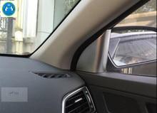 Lapetus ABS Pillar A Front Car Door Decoration Stickers Cover Trim 2 Pcs For Hyundai Elantra Sedan 2016 2017