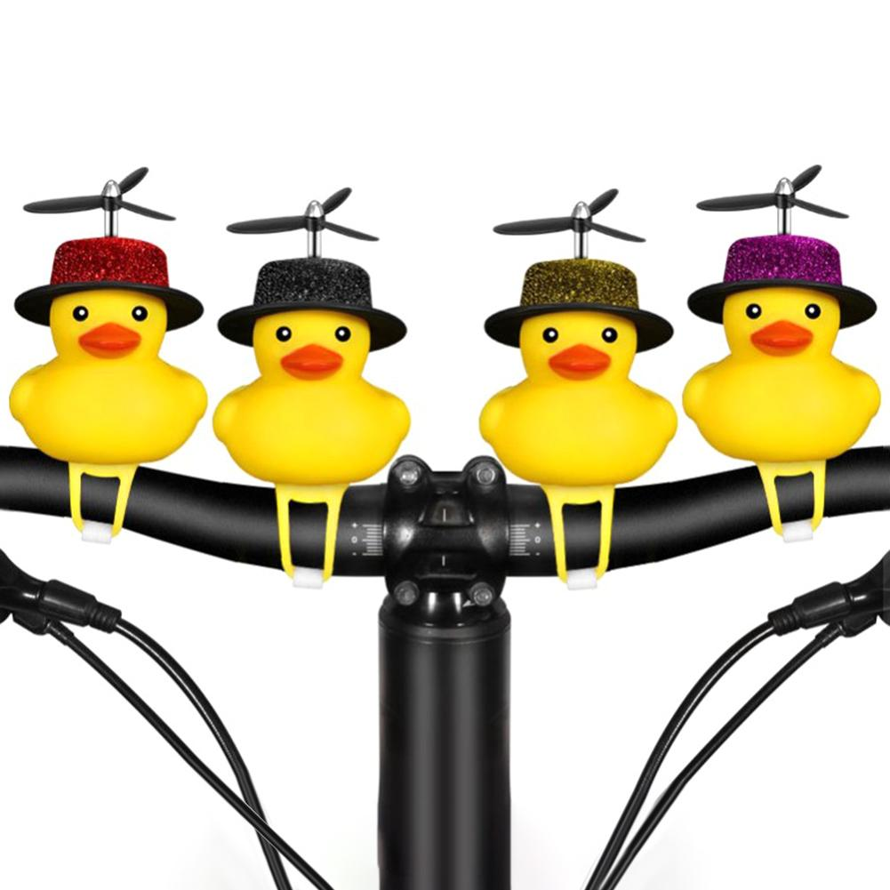 Sinos de bicicleta scooter bonito silicone pato hélice chifre para xiaomi mijia m365/pro scooter elétrico skate acessórios