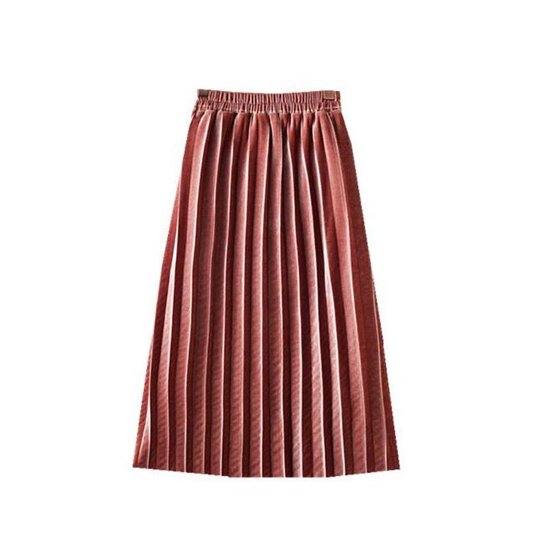 Faldas de terciopelo dorado para niñas/madres faldas a la moda de princesa faldas plisadas para primavera y verano para niñas faldas para madres e hijas 2-16 años