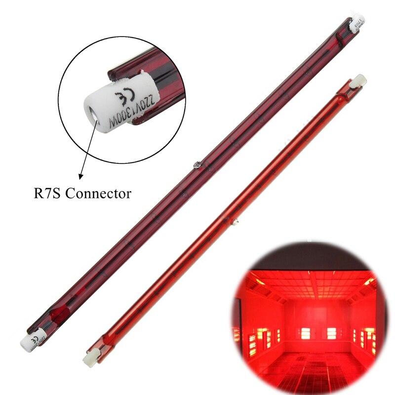 IKVVT 254mm AC 1300W Halogen Quartz Ruby R7S Infra-Red Heater Bar Tube Pipe Heat Lamp
