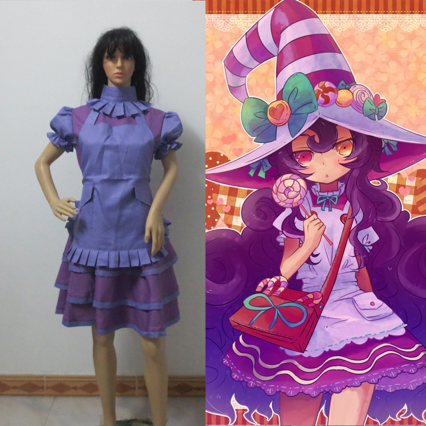 Juego cosplay disfraz LOL Fae hechicera Lulu cosplay traje