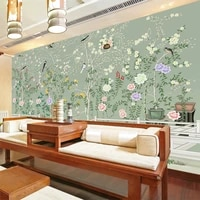 beibehang seamless mural of modern chinese flower and bird yulan hand painted wallpaper tv background wall custom size