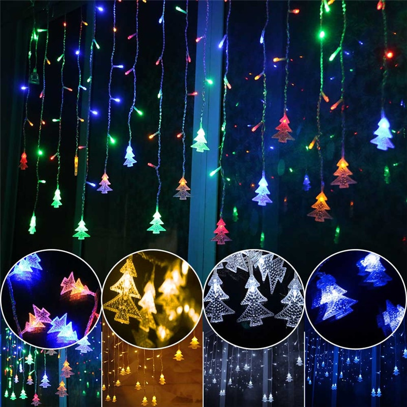 kzkrsr 3 5m 0 5m 3m 3m 6m 3m led curtain icicle string light led fairy lamp for christmas holiday wedding party garland decor 5M LED Icicle Fairy String Light Christmas LED Garland Wedding Party Fairy Lights Remote Outdoor Curtain Garden Patio Decor