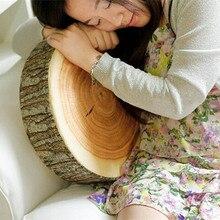 1 ud. Nuevo cojín almohada para el hogar para asiento de silla de felpa suave con vetas de madera redondas bonitas decoración del coche tocón almohadas decorativas YL673462