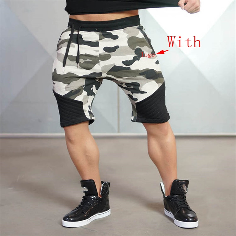 2018 Summer NewMens Fitness Shorts Fashion Casual Gyms Bodybuilding Workout Male Calf-Length Short Pants Brand Sweatpants