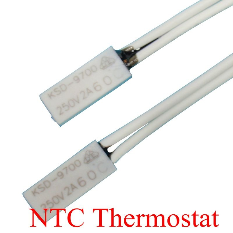 5PCS Thermostat KSD9700/TB02 40C-150C 65C 70C 75C 80C 85C 90C 15*5.4*2.4Bimetal Disc Temperature Switch Thermal Protector degree