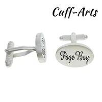 Cuffarts 2018 Cufflinks 1 Pair Novelty Wedding Page Boy Cuff Links Vintage Silver Men Jewelry Cufflinks Wedding Gift C10100