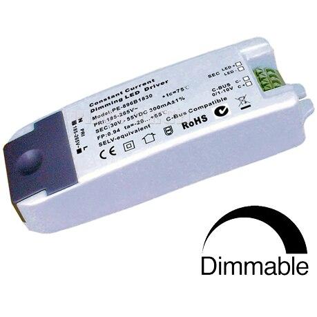 (10 unids/lote) atenuación de corriente constante de alta precisión aislada 25-42 V 300mA 12 W 0-10 V/1 -10 V LED driver regulable C-BUS Compatible