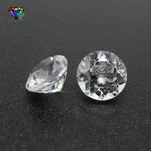 Livraison gratuite 5A 500 pcs/lot 1.0-3.0mm perles de pierre naturelle en vrac coupe ronde 1.25mm 1.5mm blanc Topa z pour bijoux