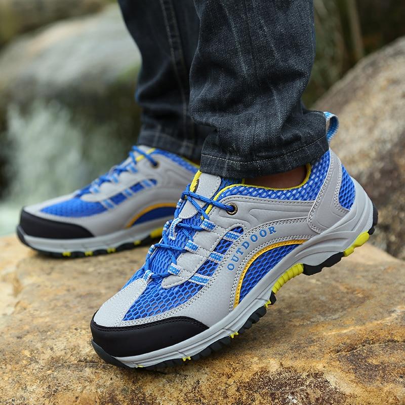 Men Summer Mesh Breathable Hiking Shoes Sport  Mountain Climbing Shoes  Boots Men Size 39-45 Tenis Masculino Adulto Zapatillas
