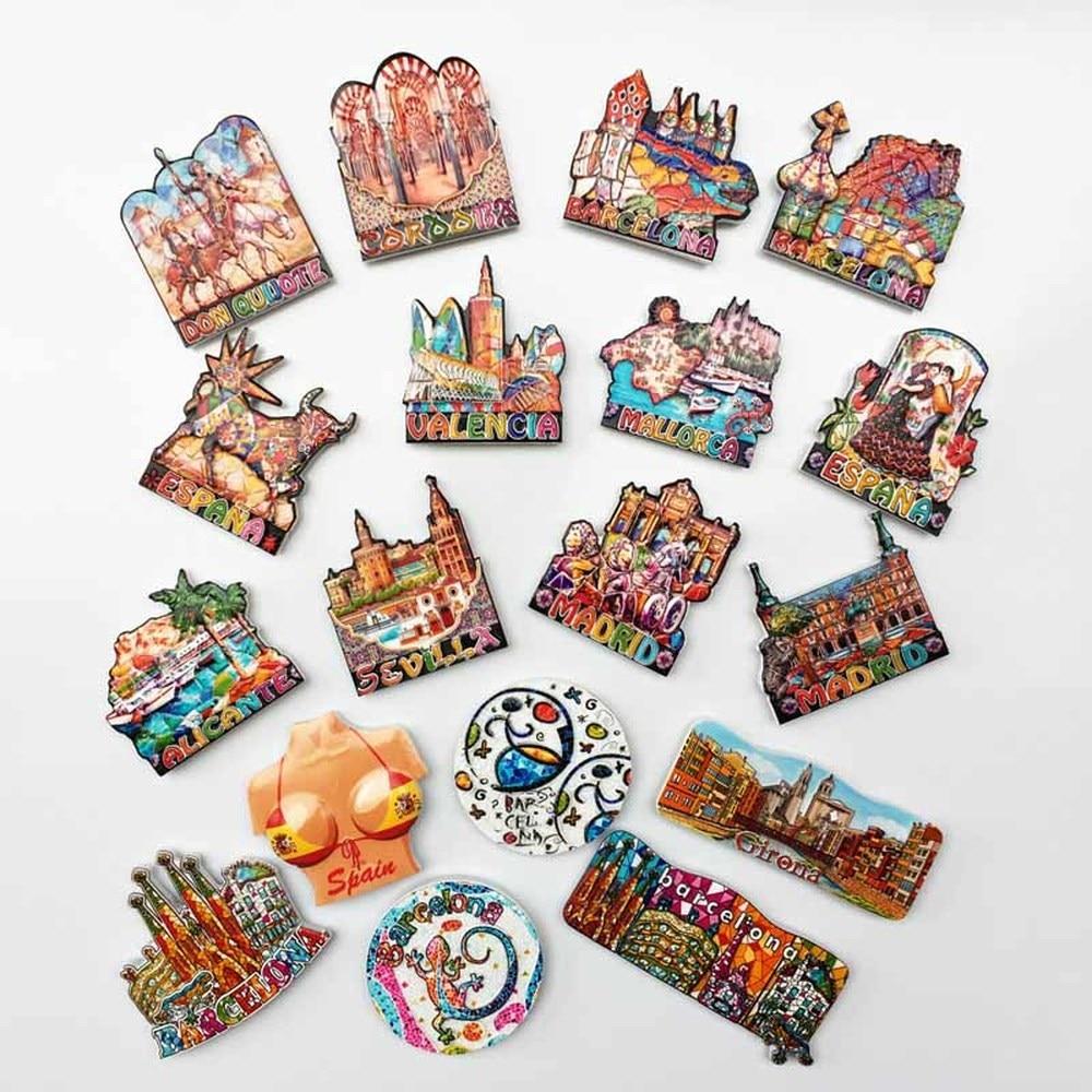 BABELEMI Souvenirs en España imanes de nevera de Barcelona, Madrid, Mallorca Valencia...