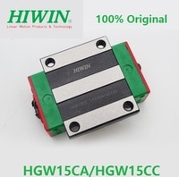 100% original Hiwin brand HGW15CA HGW15CC Linear Flange block carriage bearing for HGR15 linear guide rail CNC parts 3D printer