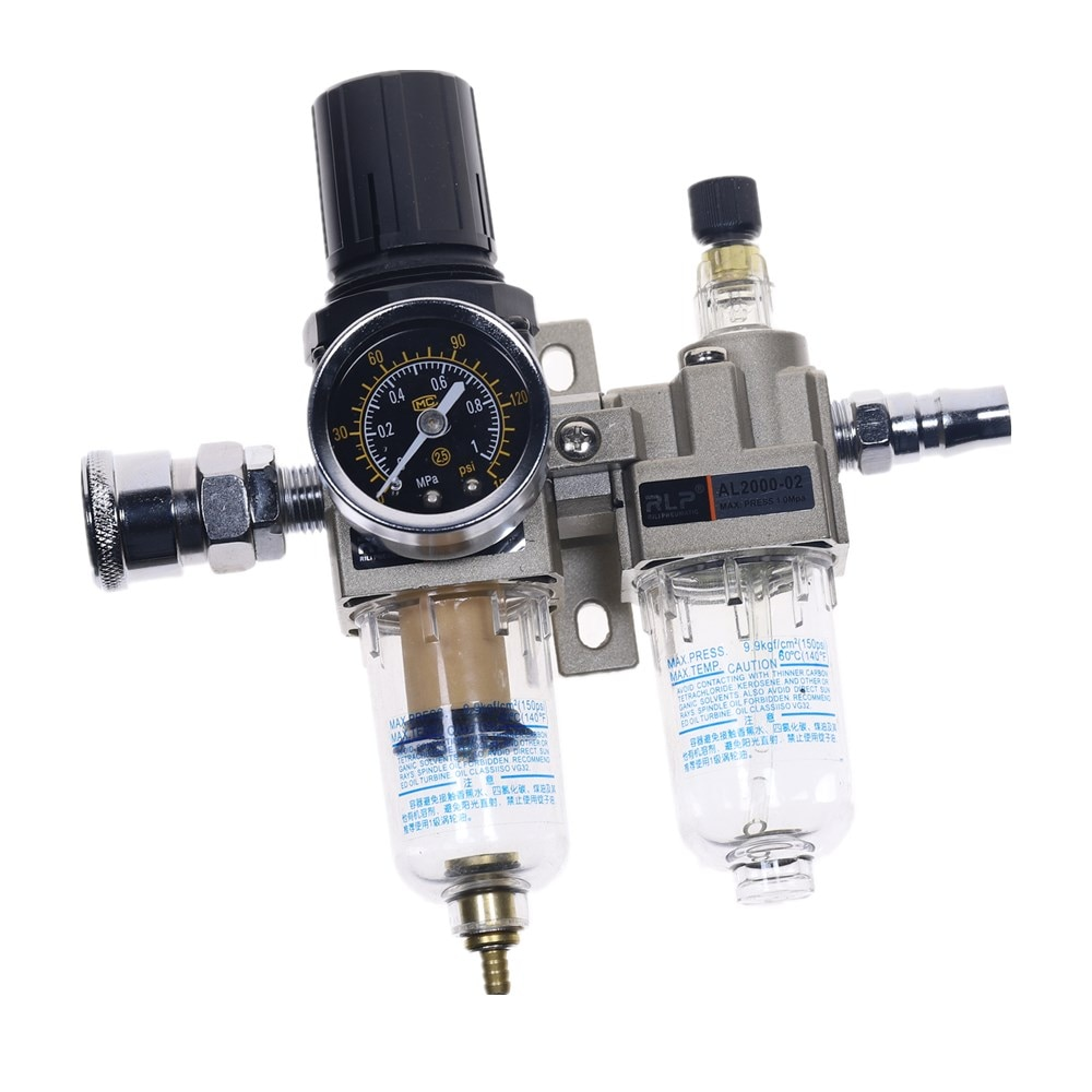 Bomba de aire de drenaje Manual de AC2010-02, compresor de aire, regulador de filtro de aceite, separador de agua neumático de dos piezas 0-1MPa 150PSI