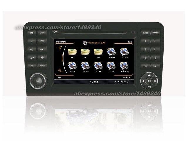 Système de Navigation GPS + Radio TV   Pour Mercedes GL classe X164 2007 ~ 2012-voiture, système multimédia décran HD, iPod, bluetooth, 3G de WIFI