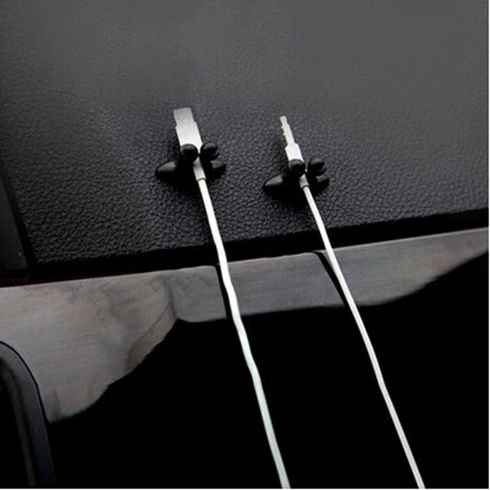 8 pçs carregador de carro linha braçadeira braçadeira fone de ouvido/cabo usb carro clipe para fiat punto 500 palio argo grande panda