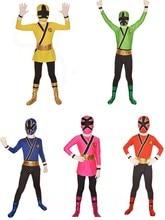 Costume samouraï Sentai Shinkenger enfants samouraï Cosplay enfants Costumes dhalloween pour enfant super-héros samouraï Rangers Zentai Costume