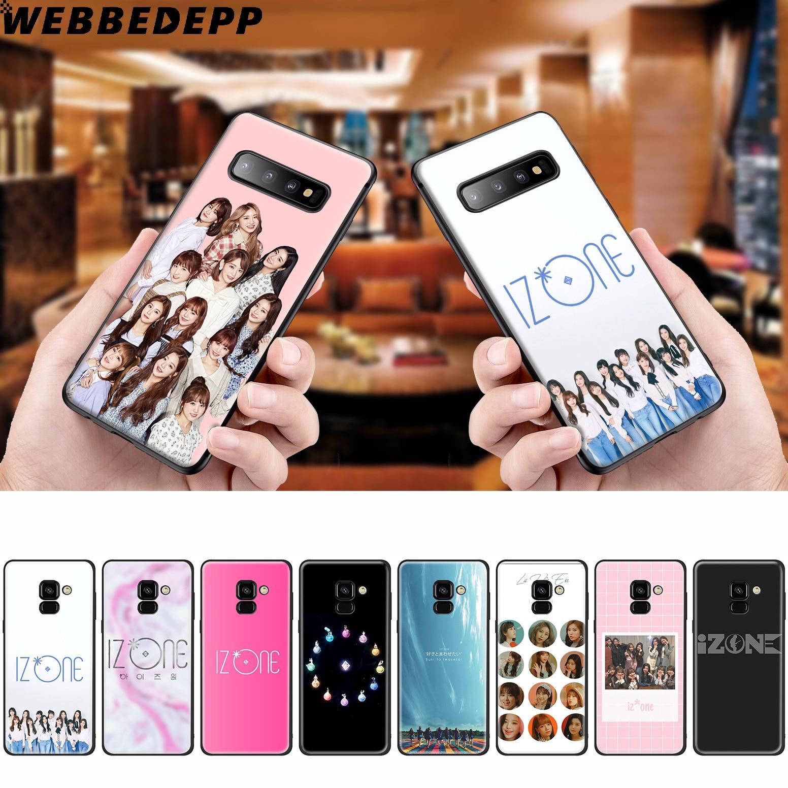 WEBBEDEPP IZONE K Pop banda de silicona caso para Samsung Galaxy A3 A5 A6 A7 A8 A9 A10 A20 A30 A40 A50 A70 M10 M20 M30