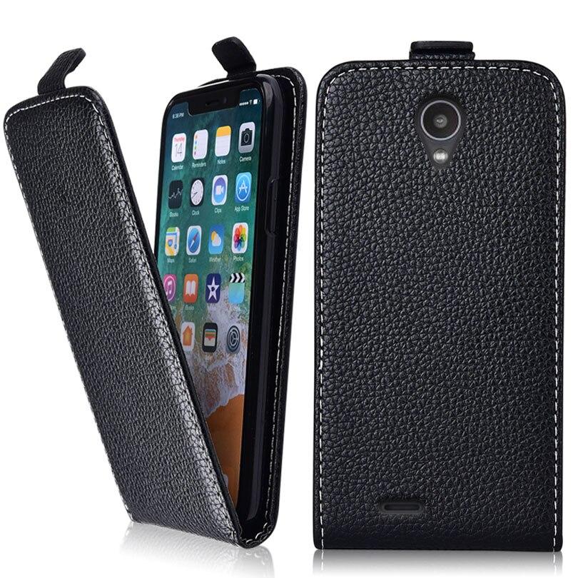 Funda abatible Vintage de negocios para Digma Linx A400 3G funda 100% cubierta especial PU y abajo teléfono lindo liso bolsa