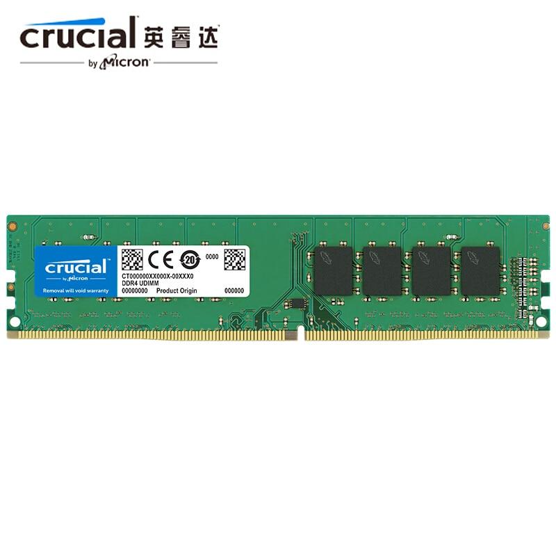 memoria ram crucial 8 gb 4gb 16gb 8 gb ram ddr4 2133mhz 2400mhz 2666mhz 288 pin para desktop