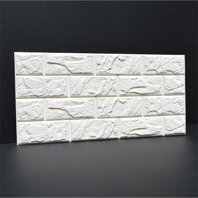 Nova 3D PE Espuma Flexível Parede De Pedra do Tijolo Adesivos 30*60 cm * 1 pcs Home Decor TV Sofá parede Arte Mural Crianças Safty Cartaz DIY Papel De Parede