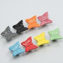 UNILOCKS 10PCS Knobs Multicolor Butterfly Children Kids Handle Drawer Cabinet Cartoon