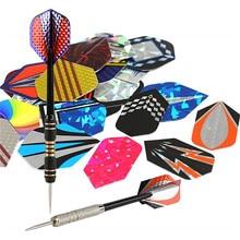 30 pièces 15 pcs/lot professionnel 2D Bling dard vols Laser queue vol herses lancer jouets belle extérieur dard aile mixte motif