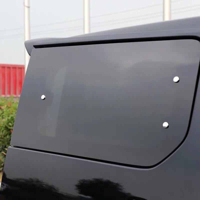 Para Nissan NV200 2018 6 uds ABS cromo de ventana de vidrio tornillo tapa adornos Decoración Accesorios de coche pegatinas