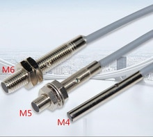 5 pièces M4 M5 M6 détecteur de proximité inductif 3 fils DC10-30V 500HZ 100mA Distance de détection 1mm NPN/PNP