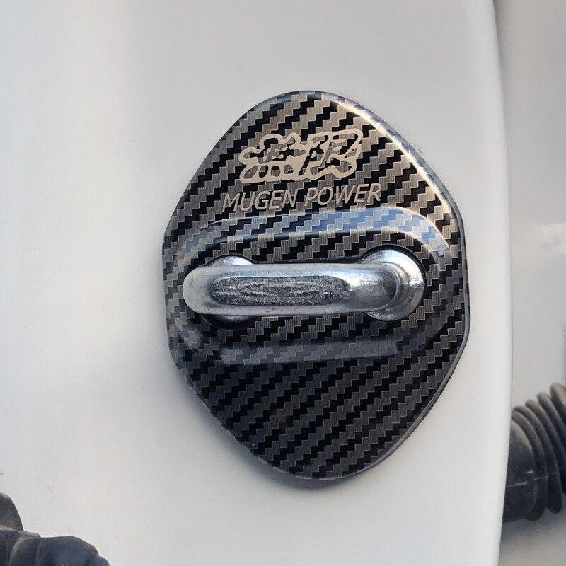 Cubiertas con emblema para coche, de fibra de carbono, Power para Mugen Honda Civic Accord CRV Hrv Jazz, insignias adhesivas, accesorios para Estilismo de coche