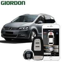 car accessories Keyless Entry Comfort System PKE Phone APP Remote Start Car Engine Car Alarm Push 913