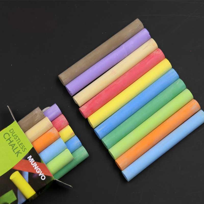 10 unids/pack calidad color blanco tiza sin polvo palos para pizarra de la Oficina de la escuela artesanía papelería
