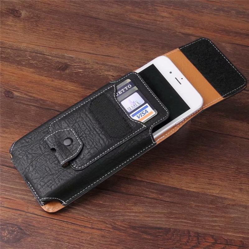Funda Universal de cuero para teléfono móvil riñonera con Clip de bolsillo para Samsung Galaxy Note 10 S10 Plus A70 A50 A40 A30 A10e A20e