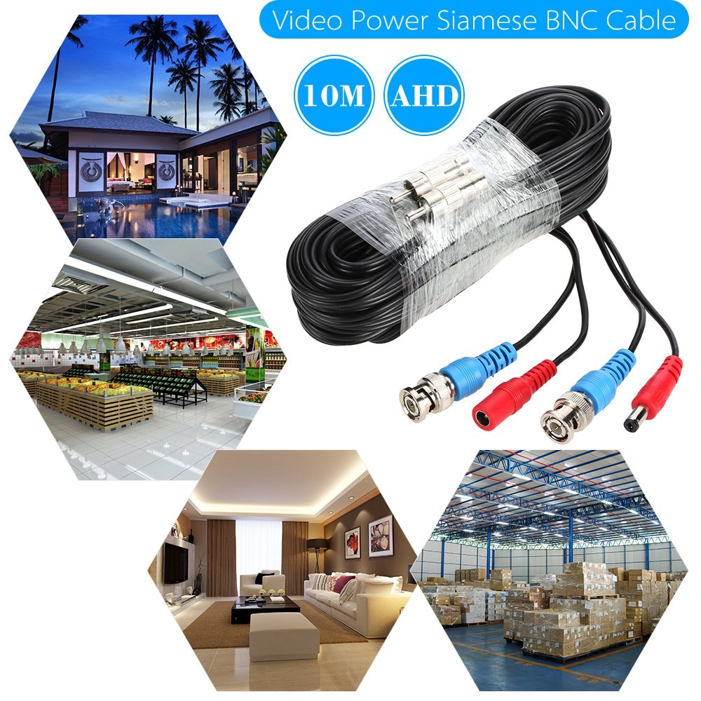 Video Power Siamese BNC Cable 65ft 20m for Analog AHD Surveillance CCTV Camera DVR Kit enlarge