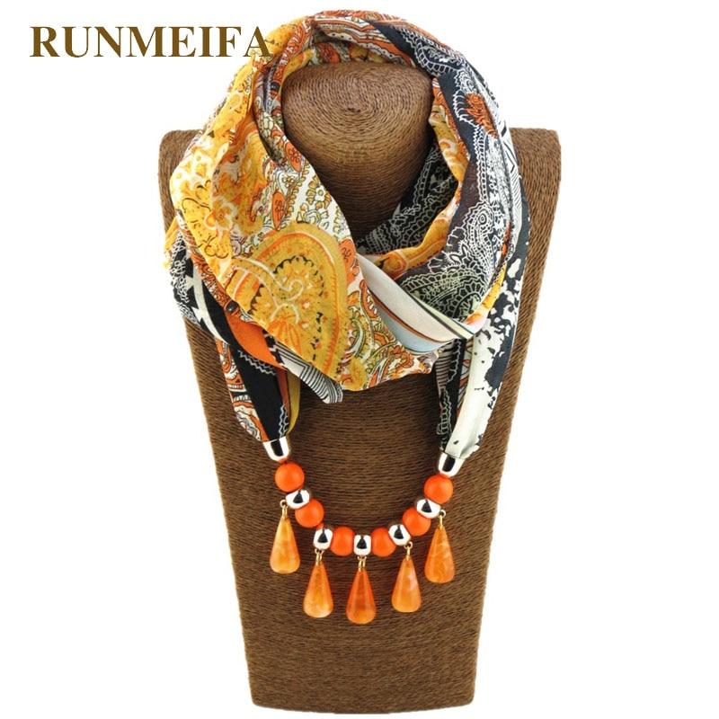 Ожерелье с подвеской в виде капель из акрила, однотонная накидка из чистого пончо в европейском стиле, повседневные модные аксессуары, шаль
