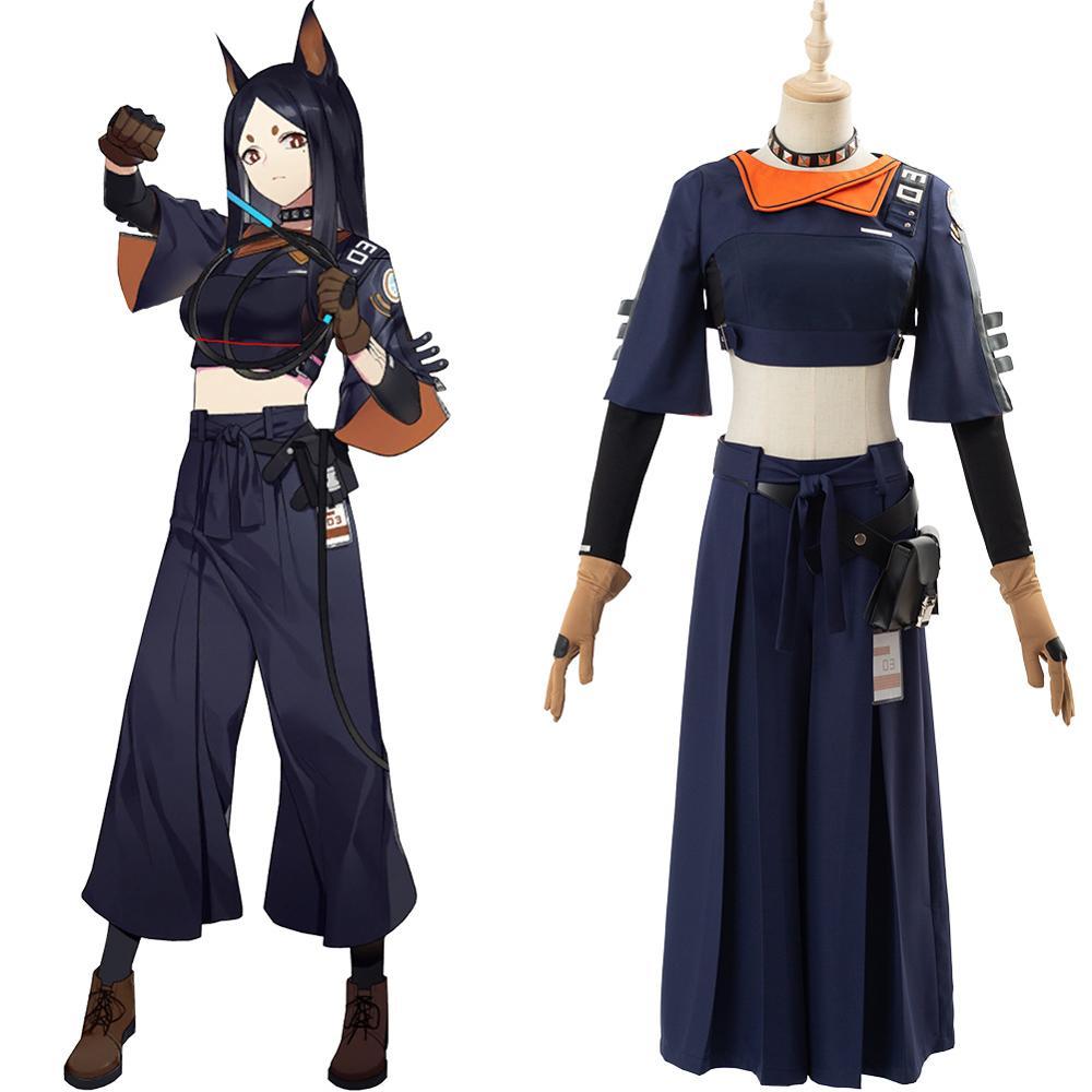 Game Arknights Dobermann Cosplay Costume Dress Full Set Cosplay Girl Halloween Carnival Costumes