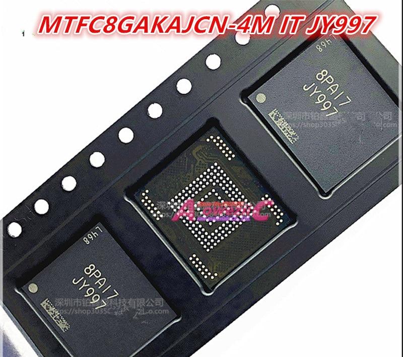 Aoweziic 100% جديد الأصلي MTFC8GAKAJCN-1M بالوزن JY995 MTFC8GAKAJCN MTFC8GAKAJCN-4M ذلك JY997 MTFC8GAKAJCN بغا رقاقة ذاكرة 8G