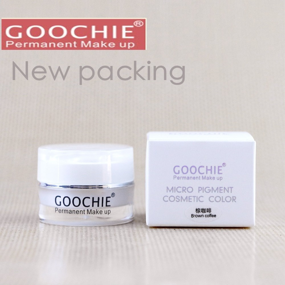 New Goochie Original Permanent Makeup Professional Microblading Eyebrow Tattoo Paste Pigment  Micro Pigment 6 Colors Available