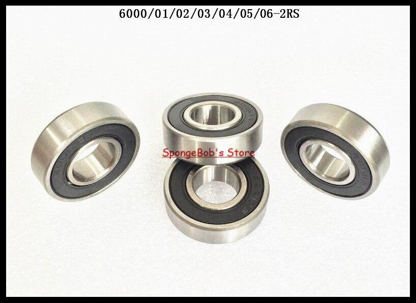 4-8 pçs/lote 6004-2RS/6005-2RS/6006-2RS Borracha Selado Rolamento Rígido de Esferas Em Miniatura Rolamento