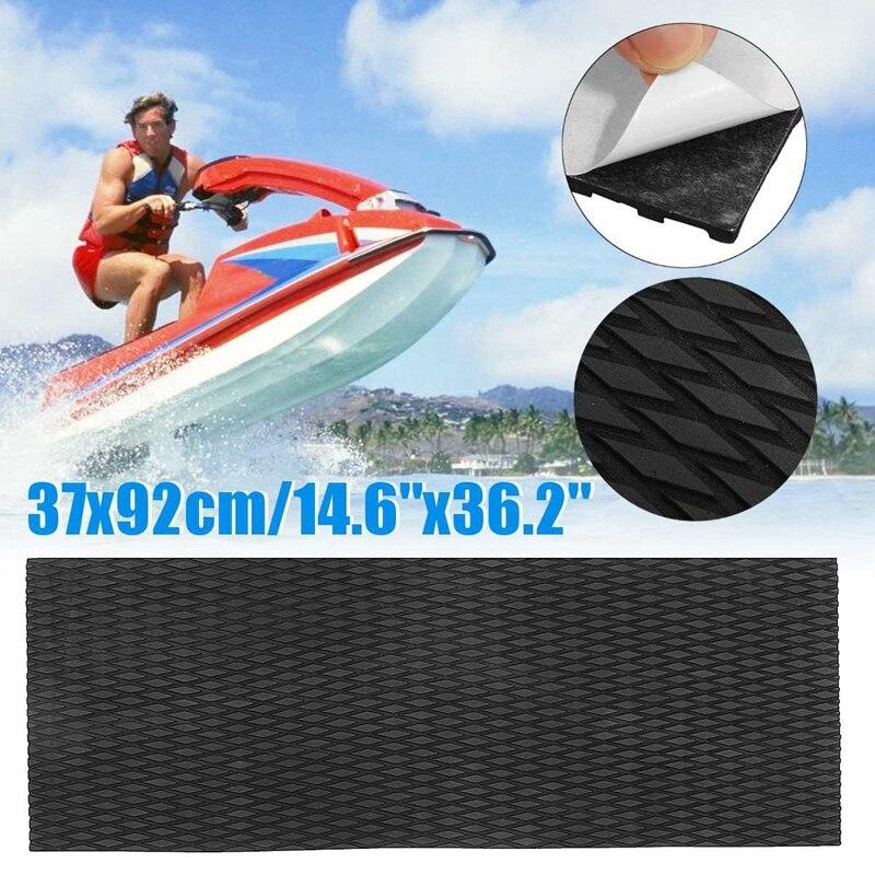 Водный скутер Противоскользящий морской пол синтетический Eva лист пены 37X92Cm гидроцикл черный коврик для серфинга Водонепроницаемые лыжи скольжения