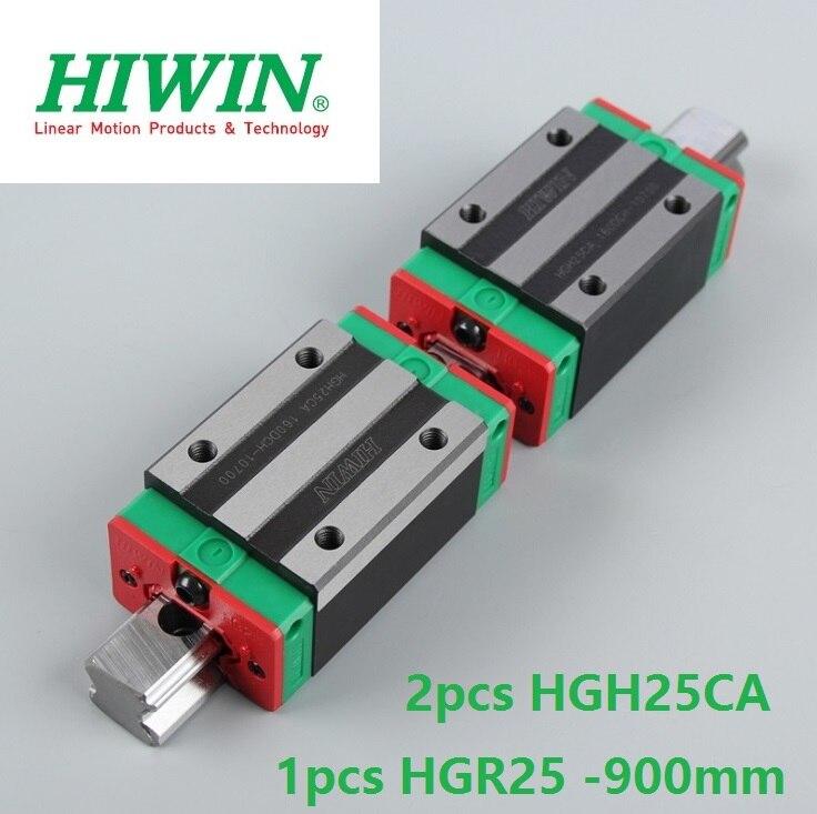 1 قطعة 100% الأصلي Hiwin خطي السكك الحديدية HGR25 -L 900 مللي متر + 2 قطعة HGH25CA ضيق كتلة ل cnc راوتر