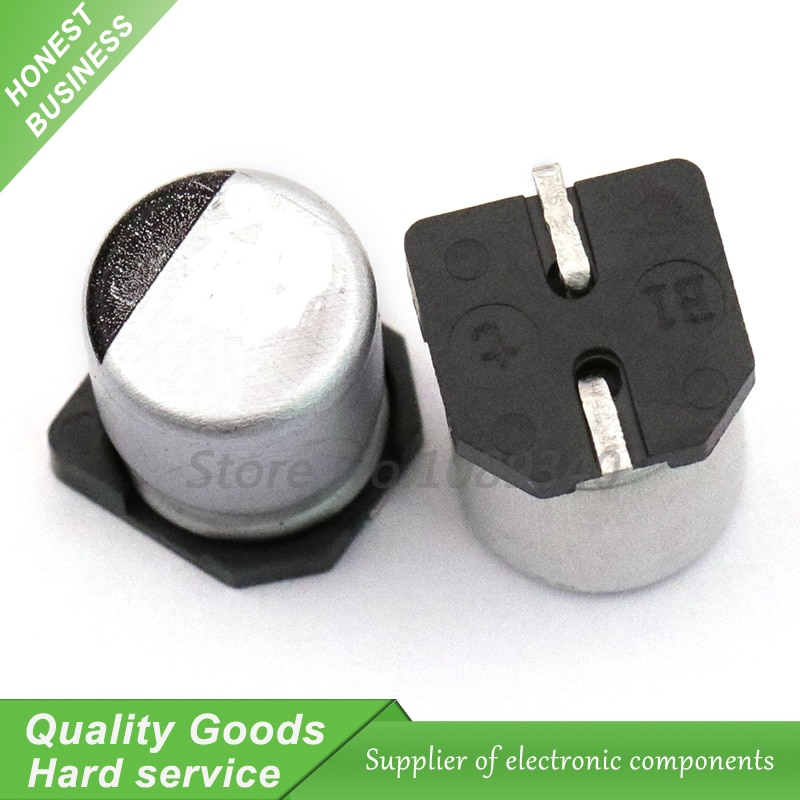 10 шт. 35V470UF 10*10,5 мм SMD алюминиевый электролитический конденсатор 470 мкФ 35v 35V470UF-SMD