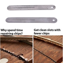 2 pièces Fret extracteur FretBoardSteel plaque pour guitare électrique et basse touche Fret réparation outil protecteur