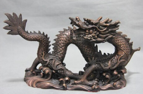 Xd 003305 Pure Red Kupfer Bronze Feng Shui Zodiac Glück Auspicious China Drachen Kunst Statue