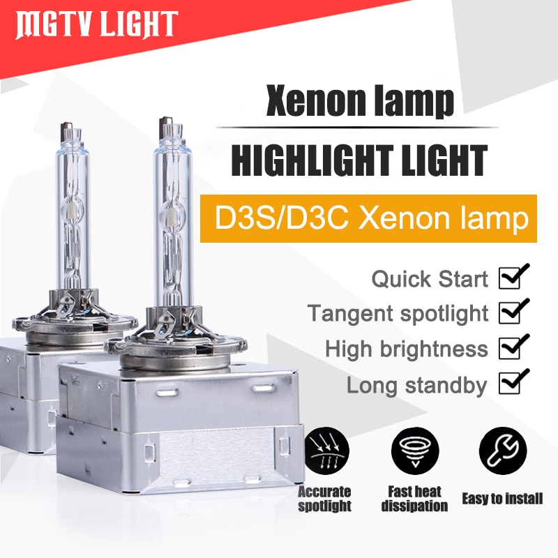 Mgtv свет 2 шт./компл. D3S ксеноновая лампа все металлические Оригинальные 12V 35W Автомобильные фары замена D3S D3C HID ксеноновая лампа 4300k 5000K 6000k