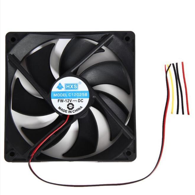 Binmer simplestone 1 pçs 120mm 120x25mm 12v 4pin dc sem escova computador caso ventilador de refrigeração 1800prm # p10