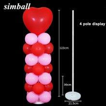 Ballons colonne avec boucle ballon support support ballons arche fête de mariage enfants adulte fête danniversaire décorations accessoires