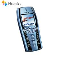7250 המקורי נוקיה 7250 נייד טלפון ישן זול טלפון כחול צבע משופץ משלוח חינם